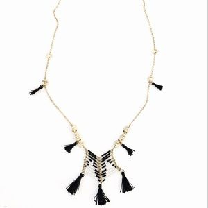 ANTHROPOLOGIE Black/White Massai necklace NWT